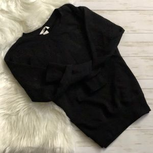 H&M Cut Out Embroidered Sweater